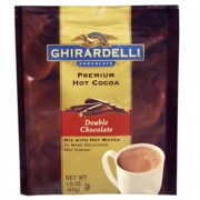 Ghirardelli Double Chocolate Cocoa Packets - Water Soluble